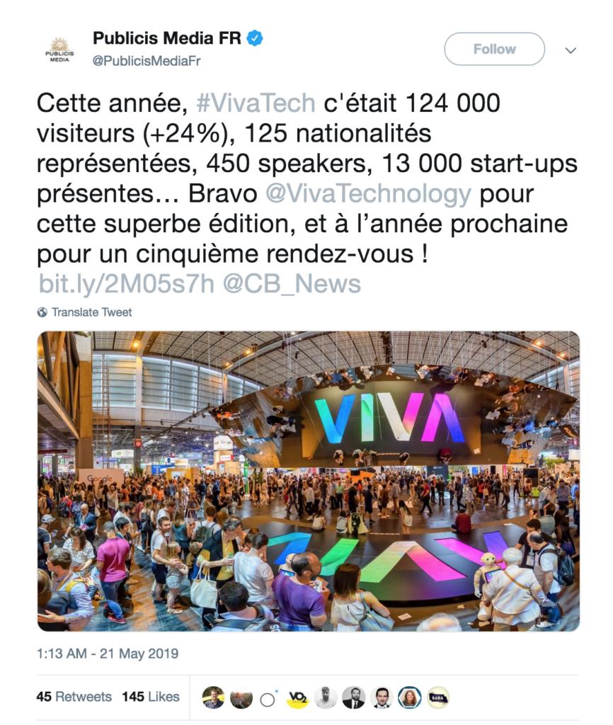 Tweet de Publicis-VivaTech