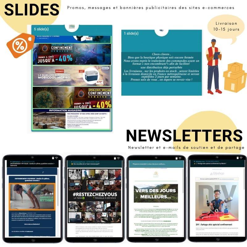Stratégies marketing - Les newsletters et slides des e-commerces sport en période Covid-19