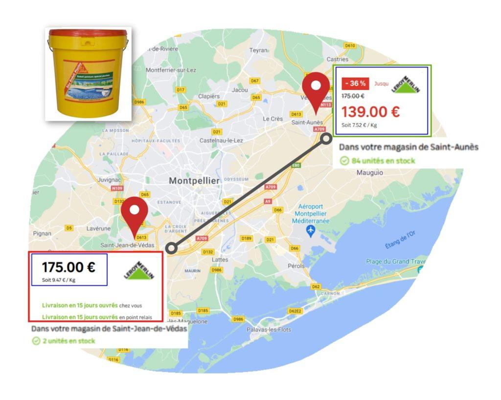 Veille tarifaire géolocalisée par PriceComparator
