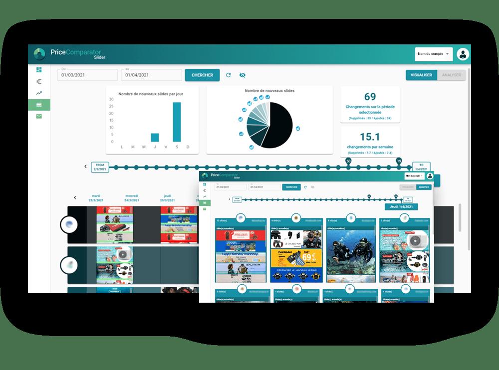 Veille et analyse des bannières publicitaires des sites surveillés - PriceComparator