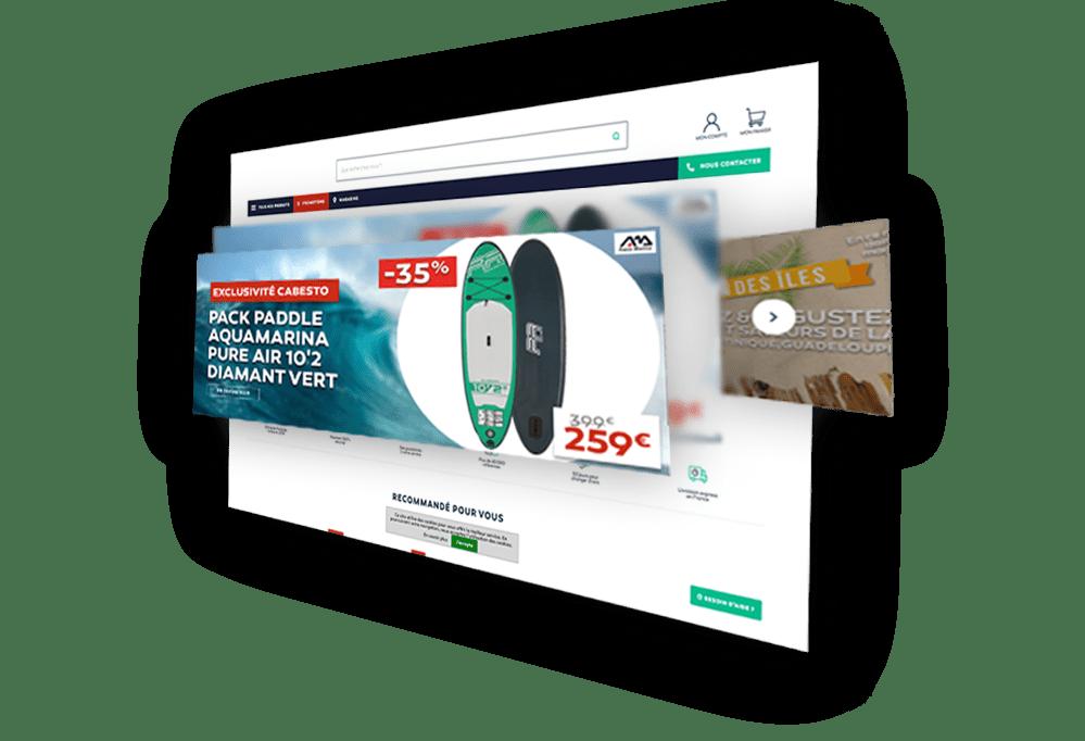 Veille des bannières publicitaires (slides) des sites surveillés - PriceComparator
